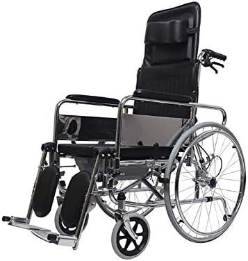 KEKEFUYUAN Beschichtung Rollstuhl Aus Kohlenstoffstahl Leichtes Falten Multifunktionsrollstuhl Pannensicherer...
