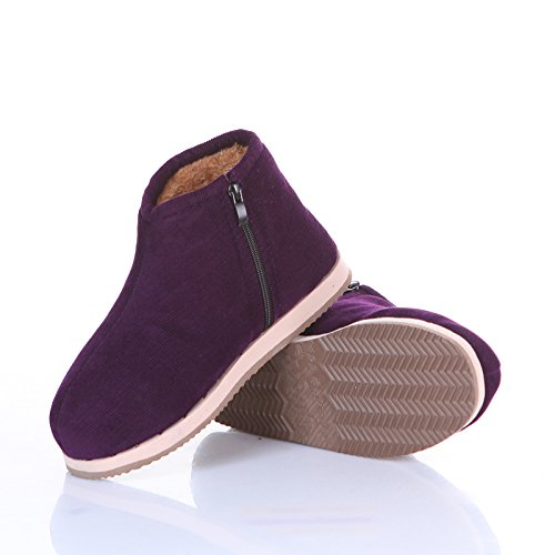 LaxBa Ladies Cachemire tricoté coton Maison SlippersPurpleRecommended antiglisse chaussures choisissez deux chantiers
