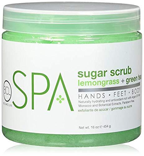 BCL Spa Lemongrass and Green Tea Sugar Scrub, 16 Ounce