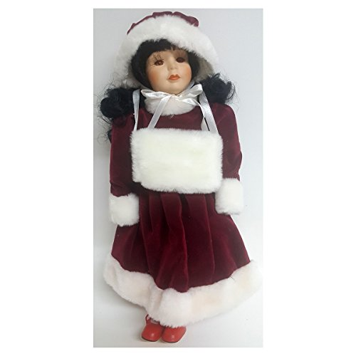 World Bazaar's Inc. Queen Anne Porcelain Doll Collection American Asian Christmas Outfit 15