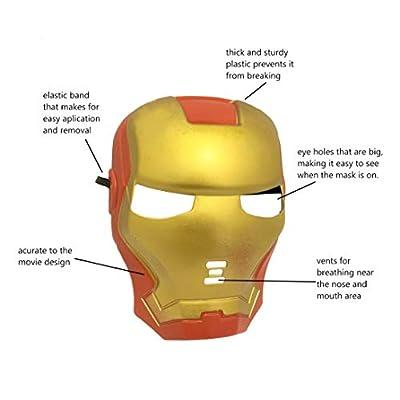 Seasons Merchandise Iron Man Mask fro Kids and Men: Toys & Games