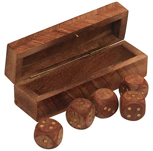 Safe And Sober Halloween (Wooden Rectangular Dice Box Comes With 5 Dices Engraved With Golden Tinge Round Dots, Sliding Tray Storage Help And Protect Tabletop Board Keep Safe Game Organiser Travel Accessories Home)