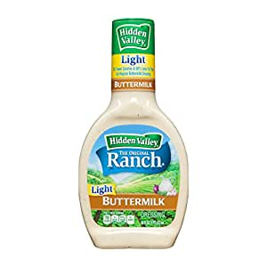 Hidden Valley Original Ranch Light Dressing, Buttermilk, 16 Fluid Ounce Bottle (Pack of 6)