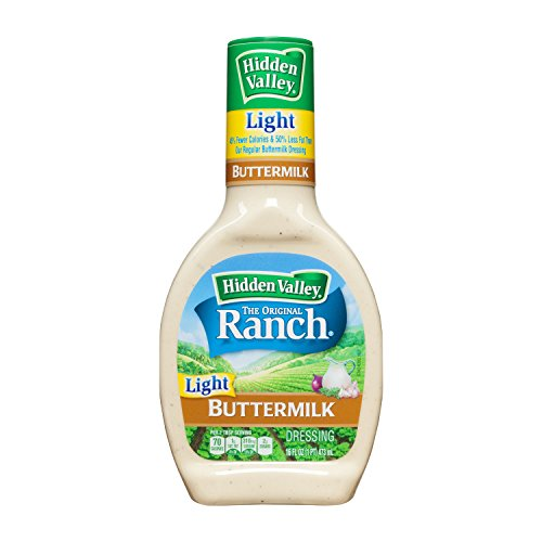 Calories Light Ranch - Hidden Valley Original Ranch Light Dressing, Buttermilk, 16 Fluid Ounce Bottle (Pack of 6)