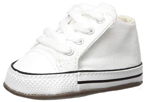 Infant Converse All Star (Converse Boys' Chuck Taylor All Star Cribster Canvas Color Sneaker, Natural Ivory/White, 1 M US)