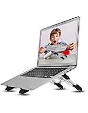 "Laptop Stand Adjustable Tablet Stand Ergonomic Folding Laptop Stand Holder Lightweight Cooling Gaming Riser Compatible for 8"" to 15.6"" Macbook,Notebook,Computer,Travel,Laptop Cooler Tray,Display,Show"