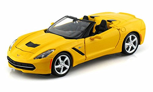 Maisto 2014 Chevrolet Corvette Stingray Convertible, Yellow 31501 - 1/24 Scale diecast Model car