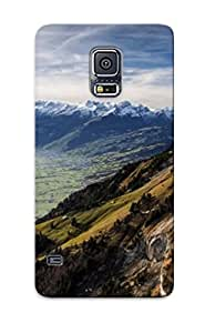 Hot Peak Mountain Scenery First Grade Tpu Phone Case For Galaxy S5 Case Cover
