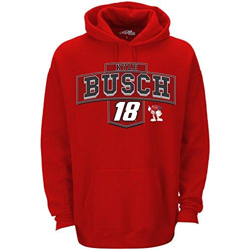 nascar-mens-ultimate-hoodie-pullover-sweatshirt-kyle-busch-18-medium