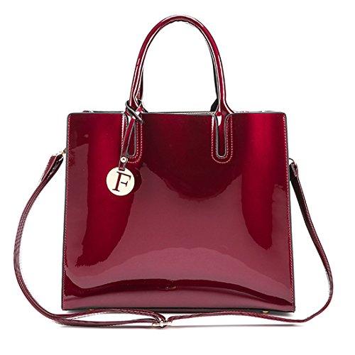 UNYU Totes - Bolso de tela para mujer Wine red color