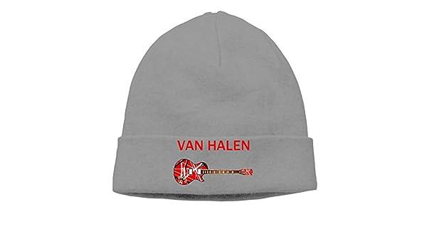 6cd7a918a9c Amazon.com  DETO Men s Women s Van Halen Patch Beanie RowingDeepHeather Cap  Hat  Sports   Outdoors