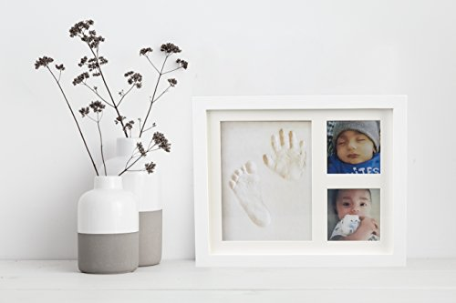 Baby Handprint Picture Frame Clay Kit for Newborn Girls and Boys by Baby Yei - The Photo Frames are Fully Painted White-Prevents Mold Creation-Safe for Treasuring your Angel's First Precious Memories by Baby Yei (Image #6)