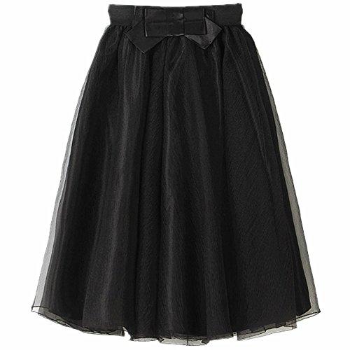 Black Tea Length Skirts