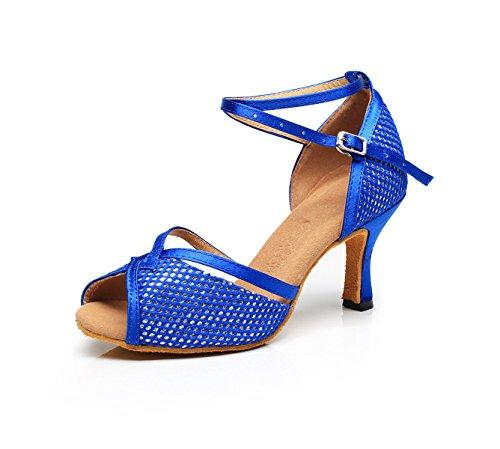 Eu42 uk7 Tango Latine Our43 Talons De Danse Jshoe Sandales Bleu7 Modernes Talon Femme 5 Chaussures Chacha Salsa Samba 5cm Pour Hauts Jazz 4CqUwR0x