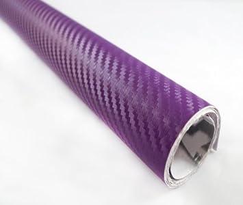 *3D Premium Matte Purple Textured Carbon Fiber Car Vinyl Wrap Sticker Decal Film