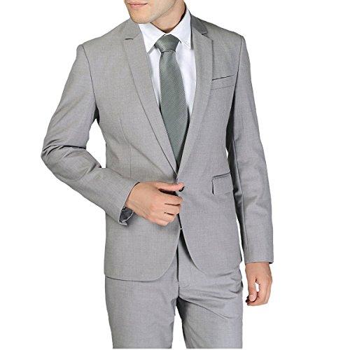 Top Lilis Mens One Button Formal 2-piece Suits Tuxedo Multi-color Slim Fit Jacket Tux & Trousers for sale