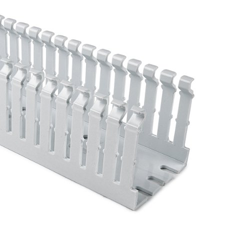 Hellermann Tyton North America 184-15304 High Density Slotted Wall Wiring Duct, 1.5'' x 3'', Non-Adhesive, PVC, White, 3.07'' Height, 1.5'' Width, 6' Length (Pack of 120)