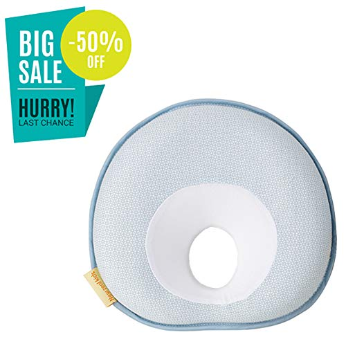 Newborn Baby Correct The Flat Head Pillow (0-36month) On Sale-Blue