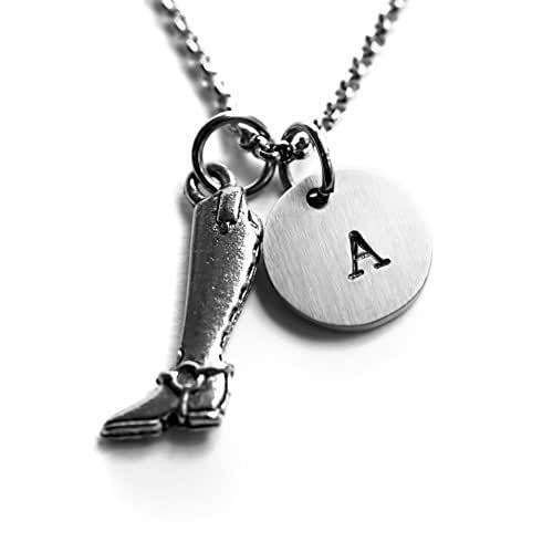 71e709702689 Amazon.com  Antique Silver Plated Riding Boot Necklace