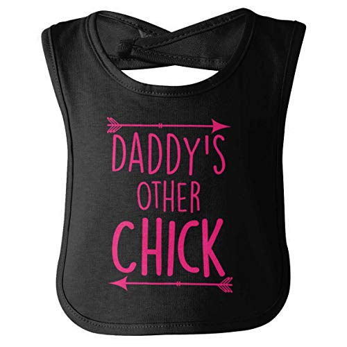 (Daddy Other Chick Dad Fathers Day Papa Pops Daughter Cute Infant Baby Bib Black)