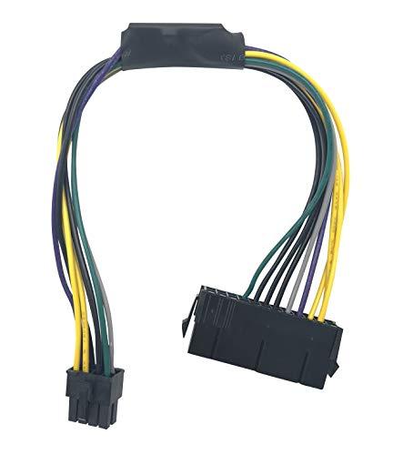 Block Erupter 24 Pin to 8-Pin Power Supply ATX PSU Adapter Cable (Dell 24 Pin To 8 Pin Adapter)