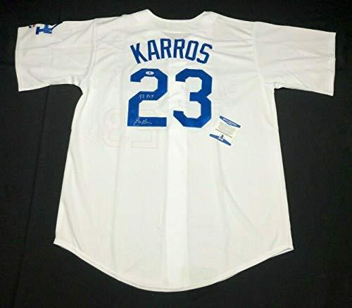 Eric Karros Signed Los Angeles Dodgers Baseball Jersey