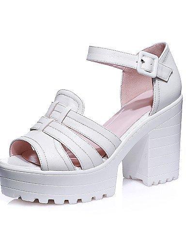 Peep Platform Pink Dress Pink ShangYi Sandals Shoes Evening Party Toe Women's amp; Heel Chunky White qpI4Ywa