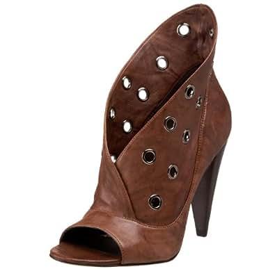 Report Signature Women's Vandalia Open-Toe Bootie, Dark Brown, 5 M US