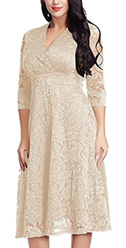 sekitoba-japan.inc Plus Size Lace Dress for Women Mother of The Bride Bridal Wedding Party (4XL, ()
