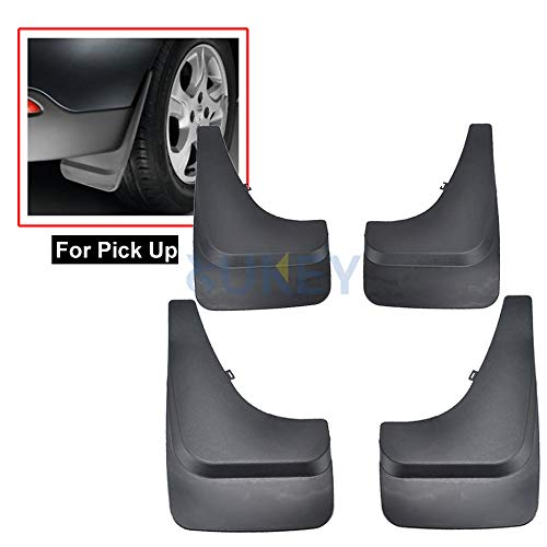 XUKEY Universal Fit for Pickup Truck SUV Mud Flap Splash Guard Front & Rear 4 Pieces Set
