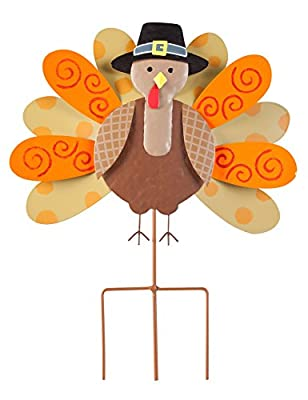 Fox Valley Traders Pilgrim Turkey Lawn Stake by Maple Lane Creations