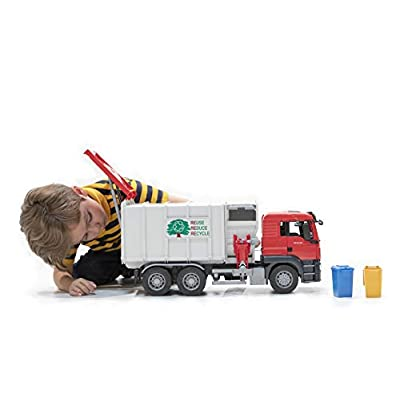 bruder Toys 03761 Man TGS Side Loading Garbage Truck: Toys & Games