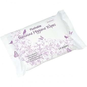 Toallitas higiene femenina Flushable 10paquetes