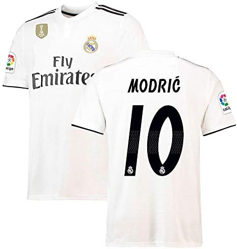 af20e79e0 ... World Cup Logo. 38% off. 2018-2019 Modric   10 Printed Real Madrid Half  Sleeves Jersey for Shorts Club