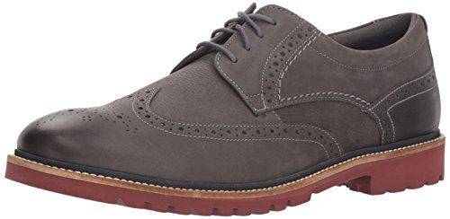 Grey Wings - Rockport Men's Marshall Wing Tip Shoe, Castlerock Grey, 10.5 M US
