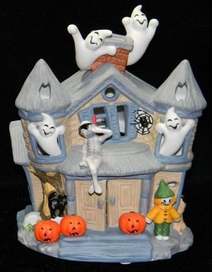 (Partylite Halloween Haunted House Tealight Candle Ghosts)