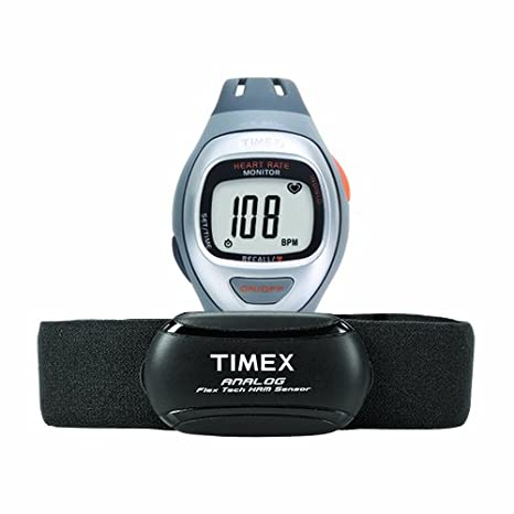 Timex Unisex T5K730 Easy Trainer Analog HRM Flex Tech Chest Strap ...
