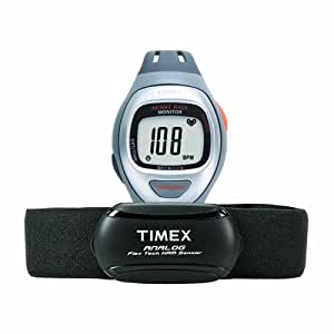 Timex Unisex T5K730 Easy Trainer Analog HRM Flex Tech Chest ...