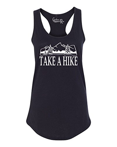 Take A Hike Hiking Camping Womens Racerback Tank Top Black L