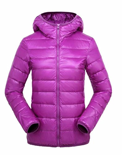 Generic Women's Light Packable Ultra Padded Hoodies Down Coats Purple