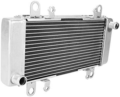 SLMOTO Chrome Radiator Cooler Cooling Fit for KAWASAKI NINJA 300 EX300 2013-2018 Aluminum