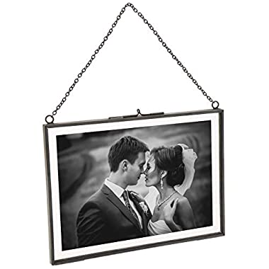 Cq acrylic 11 x 14 Picture Frames Made of Copper and High Definition Glass Display Pictures 8x10 or 11x14 for Wall mounting Photo Frame,Black,Pack of 1