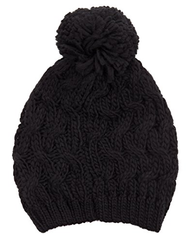 isaac-mizrahi-womens-twisted-cable-knit-beanie-with-rib-trim-black