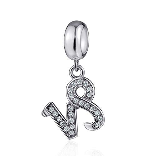Capricorn Zodiac Sign Charms for Pandora Charm Bracelets - 925 Sterling Silver Necklace Pendants, 12 Constellation/Horoscope Star Dangle - Dangling Birthstone Beads, Birthday Gifts ()