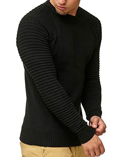 Maxime Homme Indicode Pullover Tricot Sweatshirt En Gilet Black Pull Veste 68vO8q