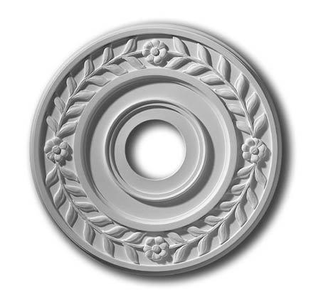 - 16 Inch Laurel Ceiling Medallion #282-PL Primed White Polyurethane