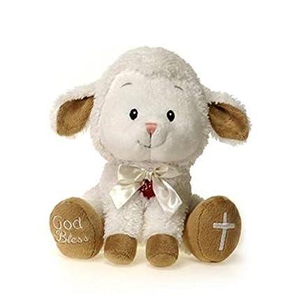 Amazon Com Fiesta Toys Singing Jesus Loves Me Lamb Plush Stuffed