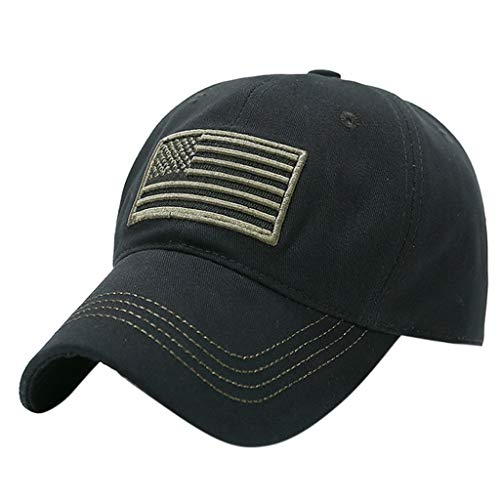 Toponly Unisex Trucker Baseball Cap Special Tactical Operator Forces USA Flag Patch Vintage Adjustable Black
