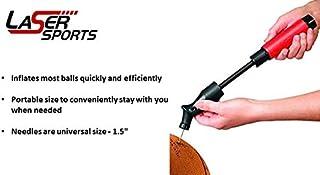 Double Action Pompe à ballon avec Needles- Pompe à air de gonflage pour votre Basketball, football, football, volley-ball et d'autres sports Balles. Premium Pompe à main volley-ball et d'autres sports Balles. Premium Pompe à main