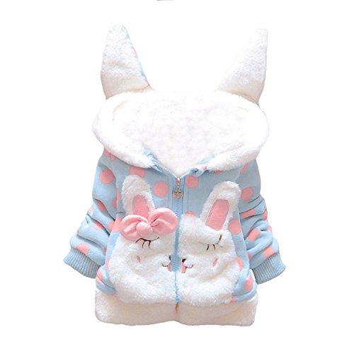 Animal Hoodie Child Leopard (Ariamark Baby Girl Butterfly Pattern Outwear Winter Warm Hoodie Down Jacket Coat)